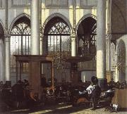 The Interior of the Oude Kerk,Amsterdam,During a Sermon WITTE, Emanuel de