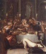 The banquet of the Kleopatra ALLORI Alessandro