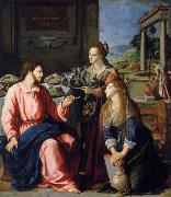 Museum art historic Christ with Maria and Marta ALLORI Alessandro