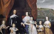 Arthur,1st Baron Capel and his family Cornelius Johnson
