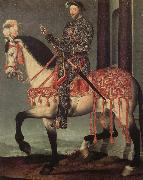 Franz i from France to horse Francois Clouet