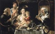 How the old so pipes sang would protect the boys Jacob Jordaens