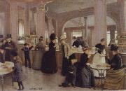 the Patisserie Gloppe on the Champs-Elysees Jean Beraud