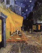 cafe terrace at the Place you forum in Arles in night Vincent Van Gogh