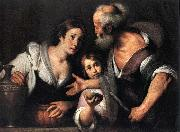 Prophet Elijah and the Widow of Sarepta Bernardo Strozzi