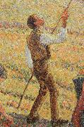 Detail of Pick  Apples Camille Pissarro