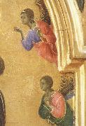Detail of The Virgin Mary and angel predictor,Saint Duccio