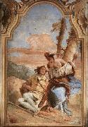 Angelica Carving Medoro's Name on a Tree Giovanni Battista Tiepolo