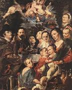 Self-portrait among Parents, Brothers and Sisters Jacob Jordaens