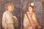 St Francis and St Louis of Toulouse Simone Martini