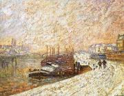 Barges in the Snow Armand guillaumin