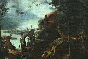 Landscape with the Temptation of Saint Anthony BRUEGEL, Pieter the Elder