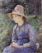 Bathing girl who sat up haret Camille Pissarro