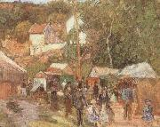 A Fair at the Hermitage near Pontoisem Camille Pissarro
