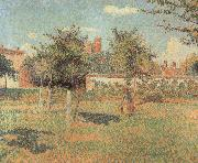 Woman in an Orchard Camille Pissarro