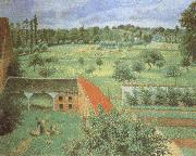View from the Artist-s Window at Eragny Camille Pissarro