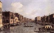 Grand Canal: Looking South-East from the Campo Santa Sophia to the Rialto Bridge Canaletto