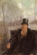 Paris Hackney Cab Driver Christian Krohg