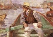 Look ahead,the harbour at Bergen Christian Krohg