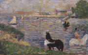 Horses in the Seine Georges Seurat