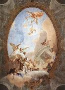 Allegory of Merit Accompanied by Nobility and Virtue Giovanni Battista Tiepolo