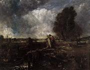 A Boat at the Sluice John Constable