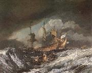 Boat and war William Turner