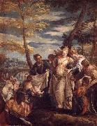 Moses found in the reeds Paolo Veronese