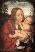 Virgin and Child in a Landscape Quentin Massys