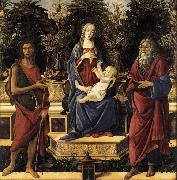 The Virgin and Child Enthroned Sandro Botticelli