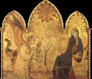 Detail of the Annunciation and two saints Simone Martini