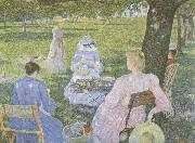 Family in an Orchard Theo Van Rysselberghe