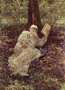 Tolstoy Resting in the Wood llya Yefimovich Repin
