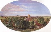 A Panoramic View of Hunworth (mk46) Anthony Frederick Augustus Sandys