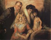 The Artist wiht his Wife and Saughters Franz von Lenbach