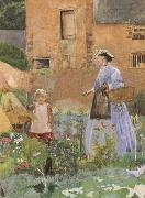 In a Garden at Cookham (mk46) George John Pinwell,RWS