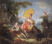 The Musical Contest Jean-Honore Fragonard
