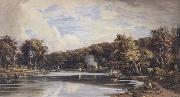 View on the Croydon Canal previous to the making of the Railroad (mk47) John varley jnr