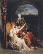 Queen Judith reciting to Alfred the Great (mk47) Richard Westall
