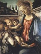 Madonna and Child with two Angels Botticelli