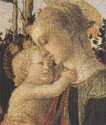 Madonna of the Rose Garden or Madonna and Child with St John the Baptist Botticelli