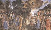 Cosimo Rosselli and Assistants,Moses receiving the Tablets of the Law and Worship of the Golden Calf Sandro Botticelli