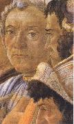 White-haired man in group at right Sandro Botticelli