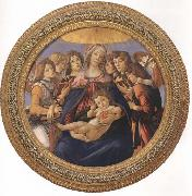Madonna and child with six Angels or Madonna of the Pomegranate Botticelli