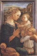 Filippo Lippi,Madonna with Child and Angels or Uffizi Madonna Sandro Botticelli
