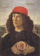 Young Man With a Medallion of Cosimo (mk45) Sandro Botticelli