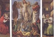 Transfiguration,with St Jerome(at left) and St Augustine(at right) Sandro Botticelli