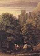 A Scene in the vicinity of a Baronial Residence in the reign of Stephen (mk47) William Turner