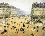 Mist of the French Theater Square Camille Pissarro