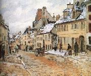 Pang map of snow Schwarz Camille Pissarro